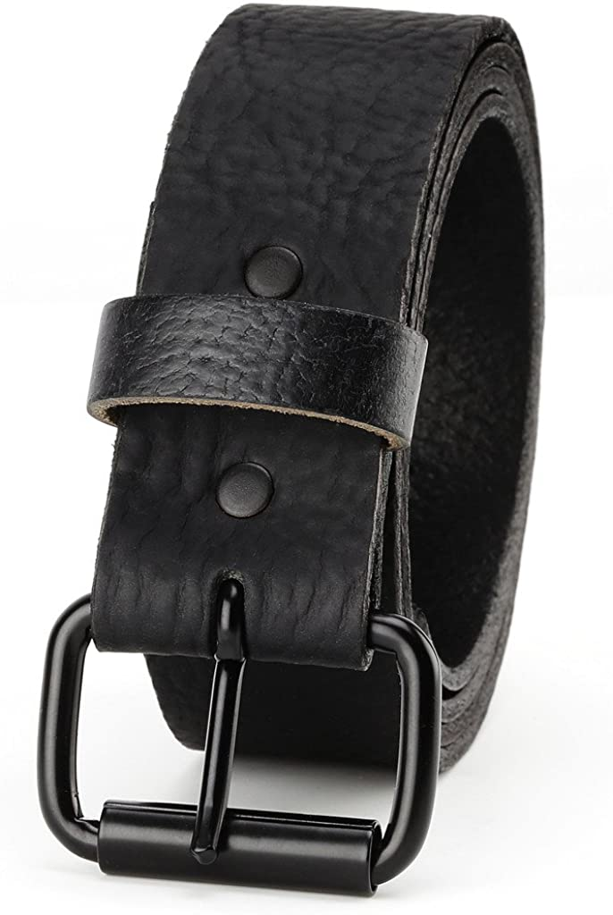 easy to change Roller buckle,1.5 wide,Made in USA Men/'s Top Grain leather Belt