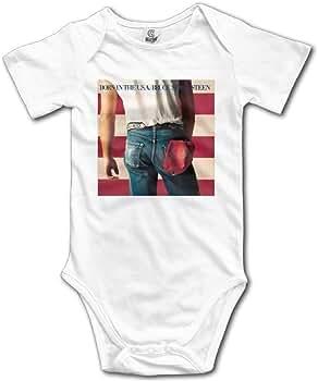 Unisex Baby Bruce Springsteen Cover Me Baby Onesies Short Sleeve Bodysuit