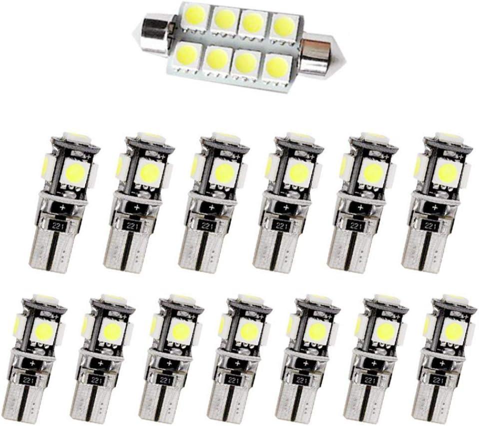 Pour X3 2008 LED Lampe Ampoules Blanc Wedge Int/érieur De Voiture Lumi/ère D/ôme Feux De Plaque Dimmatriculation Canbus Anti Erreur 12V Pas De Polarit/é Con/çu 13 Pi/èce