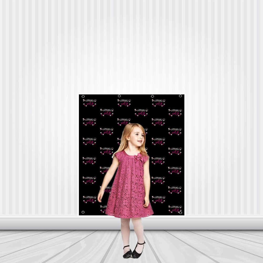 First Day of School Hearts Step Repeat Photo Backdrop