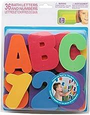 Newin Star 1set espuma de baño Letras y números del rompecabezas juguetes educativos y juguetes de baño con bañera de juguete Organizador incluido para almacenamiento Tidy