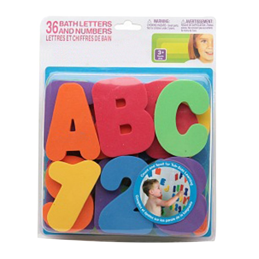 Deanyi Funny Children's Puzzle Baby Toys Colorful Numbers and Letters Puzzle Bath Toys Bath Alphanumeric Stickers 1 Set