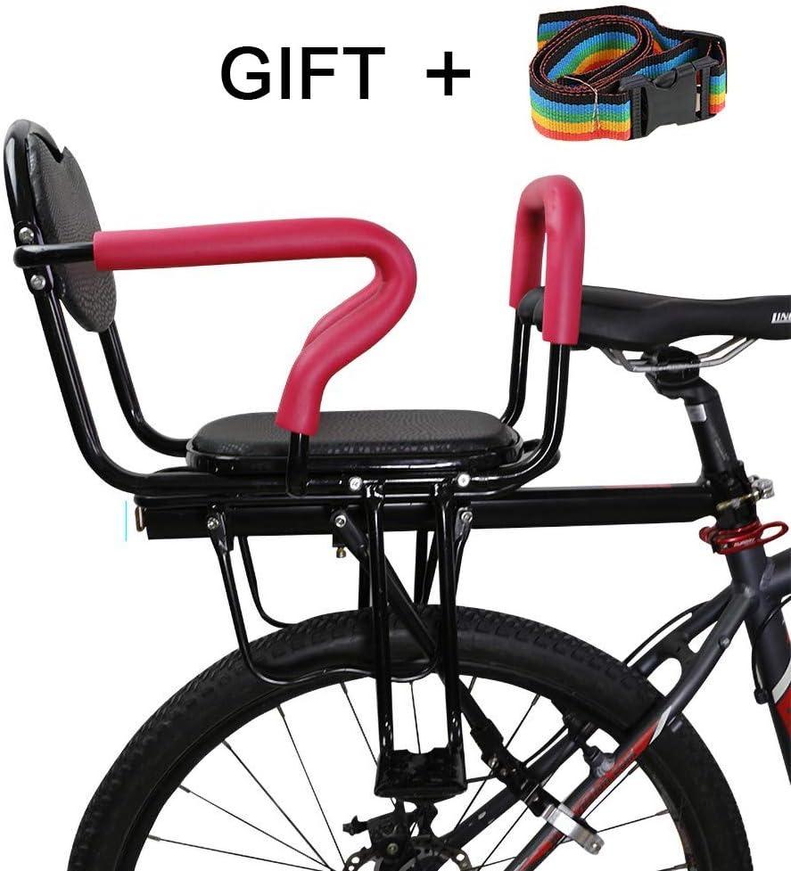 Samyoung Bicycle Rear Seat Cushion Armrest Footrest Set Bike Back Seat Child