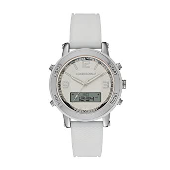 Skechers Womens SR6004 Analog-Digital Display Quartz White Watch