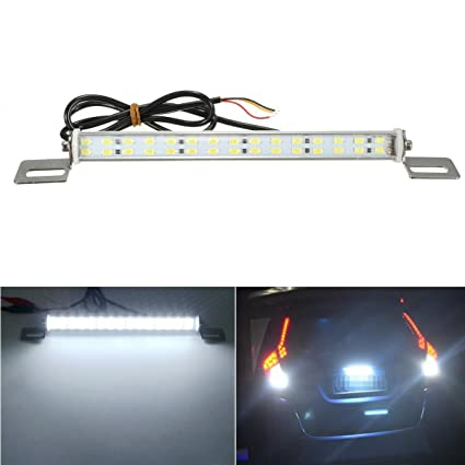 White Light 12V High Brightness 3-LED Motorcycle License Plate Light