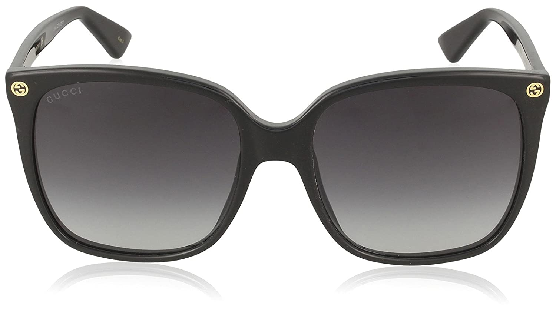 Gucci GG0022S Sunglasses 001 Black / Grey Gradient Lens 57 mm