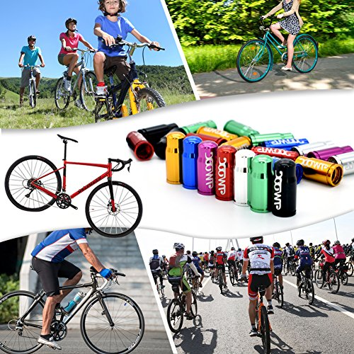 Bike Tire Valve Caps Multi-Color Anodized Machined Aluminum Alloy Bicycle Tire Valve Caps Dust Covers French Style Presta Valve Cap Road Bike Valve Cap (7 Colors,14 pcs/Lot) by TWOOC (Image #1)