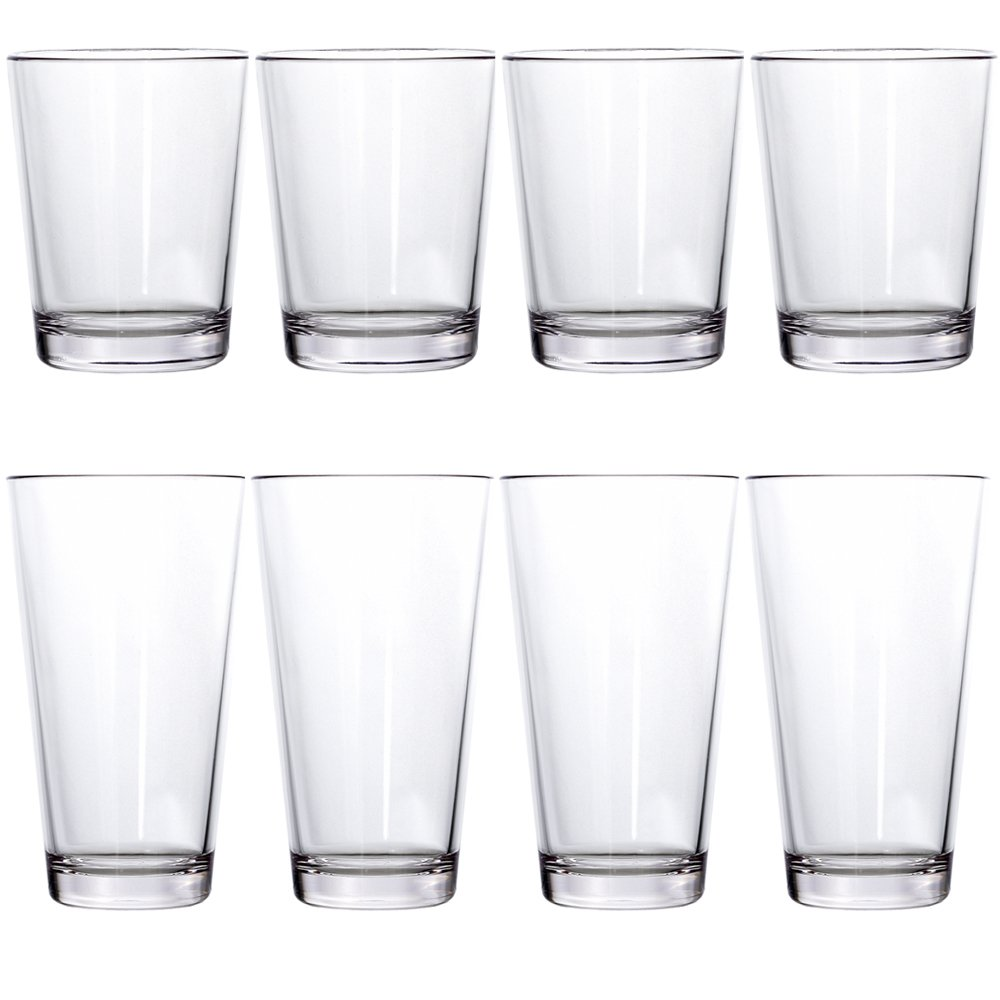 479f53c6116 Details about Bistro Premium Quality Clear Plastic Tumblers   set of 8    four 15-ounce and