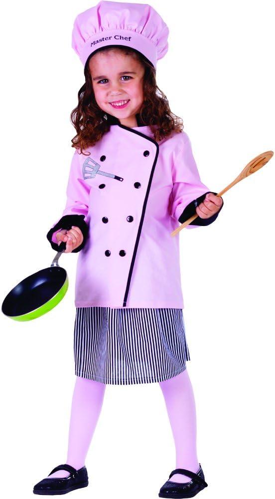 Dress Up America Disfraz de Linda pequeña niña Cocinero