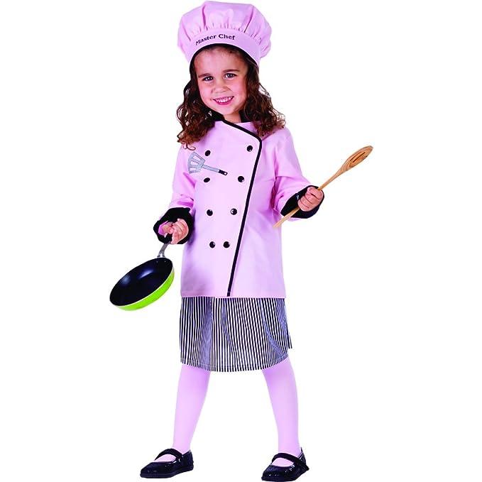 Dress Up America Disfraz de Linda pequeña niña Cocinero: Amazon.es ...