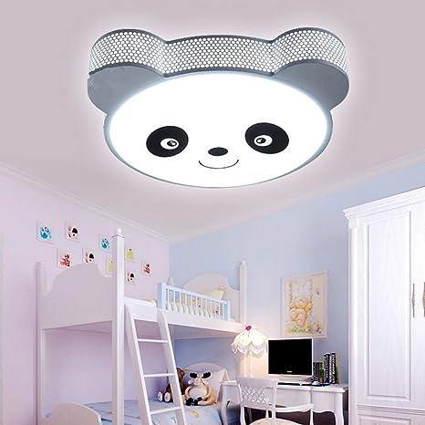 Wefun Panda Lámpara de LED Plafón,24W Luz de Techo para Cuarto de ...