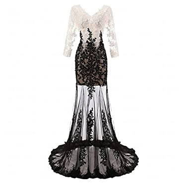 4f941ac81ff0 Chady New Sexy V-Neck Sequins Lace Long Sleeves Mermaid Prom Dresses 2017  Ball Gown