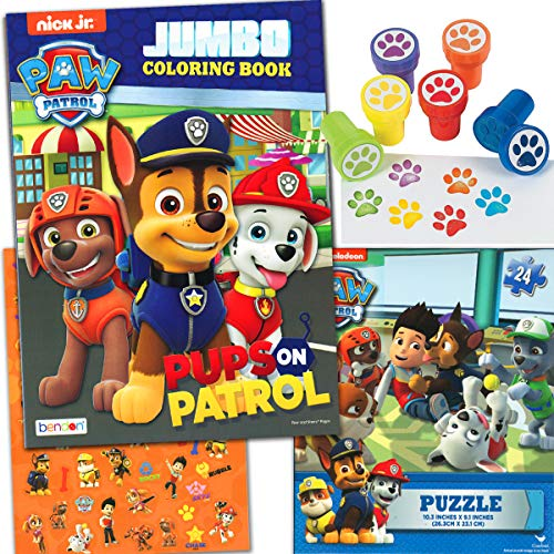 (Paw Patrol Coloring and Stamper Activity Book Set)