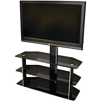 Amazon Com Level Mount Eltvs55m Glass Tv Stand For 26 55 Inch Flat