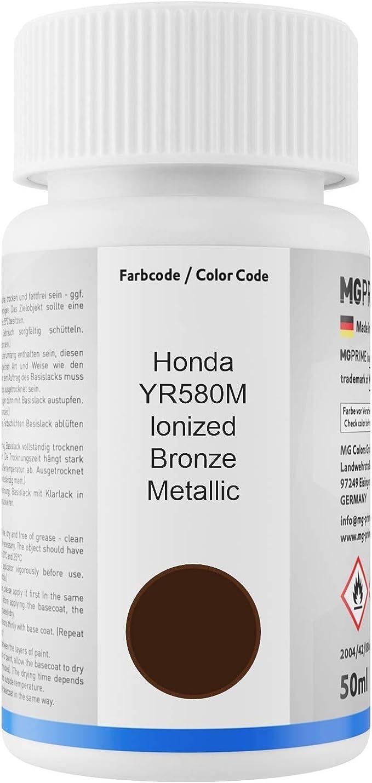 Mg Prime Autolack Lackstift Set Für Honda Yr580m Ionized Bronze Metallic Basislack Klarlack Je 50ml Auto