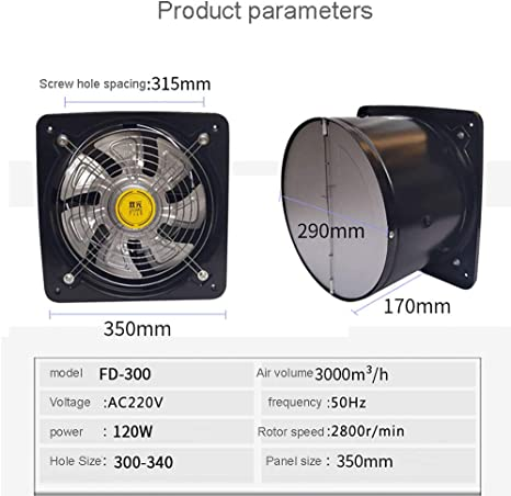 Funktion Standard Wandventilator Abluftventilator Badezimmerl/üfter Badl/üfter Wandl/üfter KLDA pro mit Aluminium front System /Ø 150
