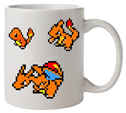 Pixel Charmander Charmeleon Charizard Pokemon Mug Amazon