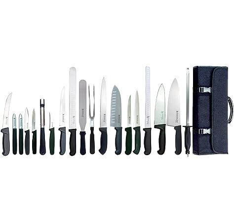 Compra Top Chef Manta Cuchillos Cocinero Profesional. Incluye 6 Tipos Diferentes DE Cuchillos Profesionales, Tijera, PELADOR Y CHAIRA. en Amazon.es
