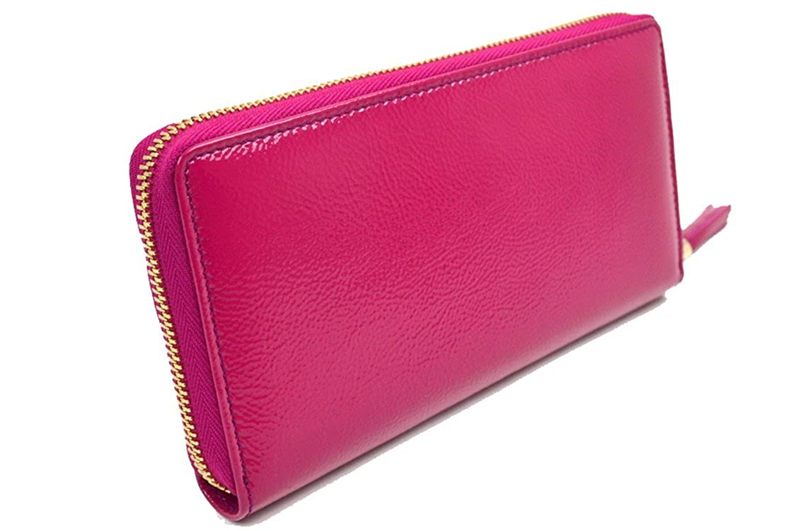 cf25e1ebd59 Gucci Soho Magenta Pink Patent Leather Zip Around Wallet 308004   Amazon.co.uk  Shoes   Bags