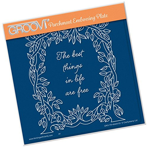 Groovi Embossing A5 Square ~ Leafy Frame, GRO40444 by Groovi