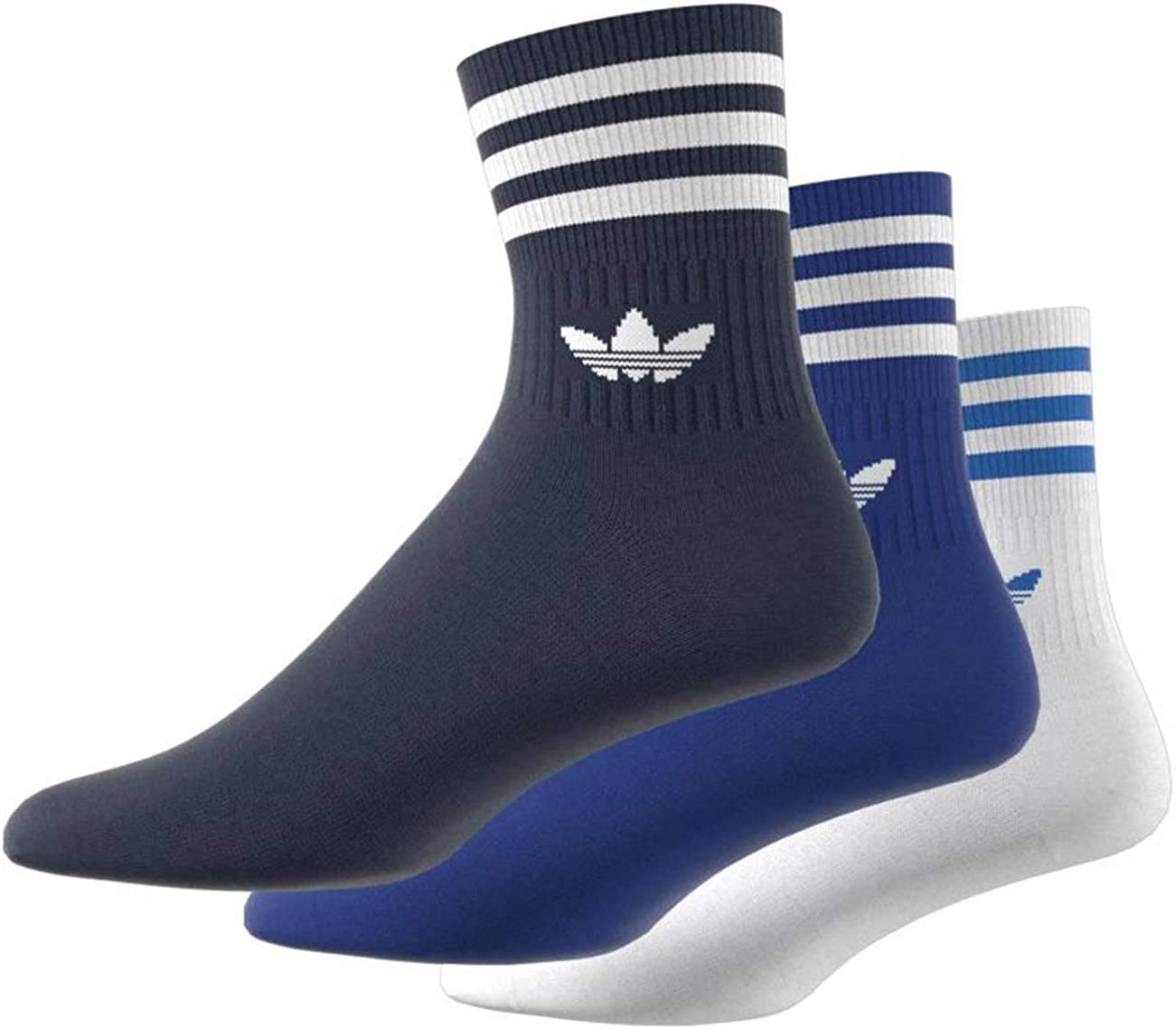 Chaussettes Adidas mi-mollet Mid-Cut x3