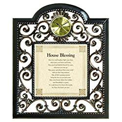 Heartfelt Collection Metal Wall Clock, House Blessing
