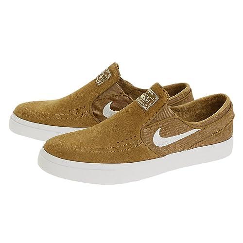 c5f9c9ba450f9 Nike Men's Zoom Stefan Janoski Slip Golden Beige/White Skate Shoe 9 Men US:  Buy Online at Low Prices in India - Amazon.in