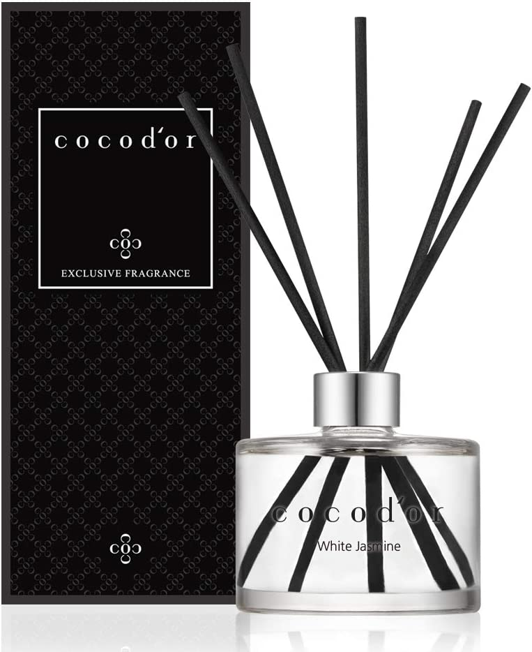 Cocodor Signature Reed Diffuser/White Jasmine/ 6.7oz(200ml) / 1 Pack/Reed Diffuser, Reed Diffuser Set, Oil Diffuser & Reed Diffuser Sticks, Home Decor & Office Decor, Fragrance and Gifts