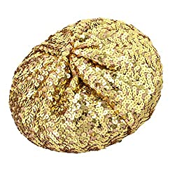 Classic Sparkle Gold Sequin Beret Hat