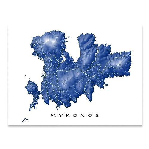 Amazon.com: Mykonos Map Art Print, Greece, Greek Island: Handmade on map of mouse island, map of sicily, map of ionian greek islands, map of greek islands in english, map of turkey and greek islands, map of islands of greece, map of main land europe, map of isles gk, map of greece with cities, map of the hawaiian islands to print, map of greece showing mount olympus, map of hellenic, map of kalokairi, map of skala greece, map of italy, map of greece with islands, map with towns of evia greece,