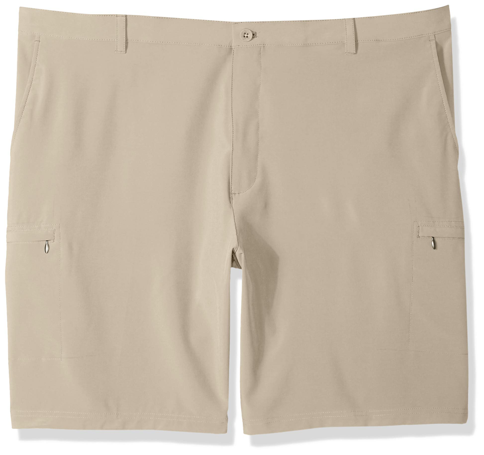 IZOD Men's Big and Tall Golf Swing Flex Stretch Cargo Short, red Khaki, 48