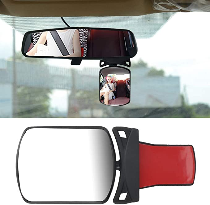 Swiftswan Baby Rearview Mirror Safety Car Rear Seat Baby Easy Sight Adjustable Adjustable Practical Cute Baby Monitor.