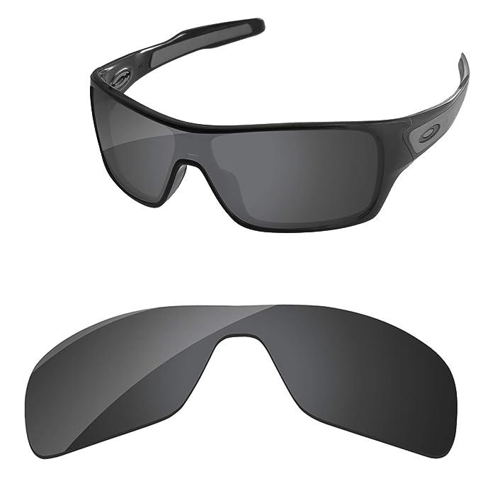 1ce988763fada PapaViva Replacement Lenses for Oakley Turbine Rotor Black Grey ...
