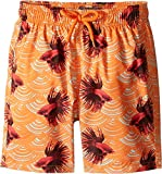 Vilebrequin Kids Baby Girl's Sashimi Exotic Swim Trunk (Toddler/Little Kids/Big Kids) Orange Swimsuit Bottoms