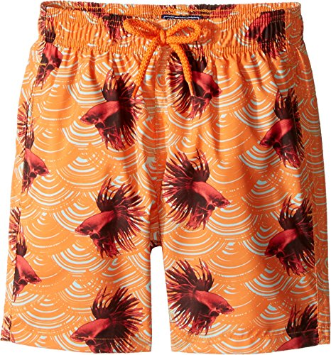 Vilebrequin Kids Baby Girl's Sashimi Exotic Swim Trunk (Toddler/Little Kids/Big Kids) Orange Swimsuit Bottoms by Vilebrequin Kids