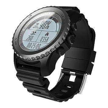 OOLIFENG Reloj Running con GPS, Fitness Reloj Inteligente con Incorporado Pulsómetros, Barómetro para Al Aire Libre Aventurero,Black: Amazon.es: Deportes y ...