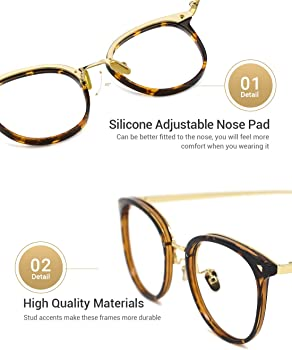 452e293fe78 Women Retro TR90 Metal Round Glasses Frame Optical Rx-able Eyeglasses-Maaike