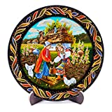 Encounter Wooden Decorative Plate with Stand, 11-Inch