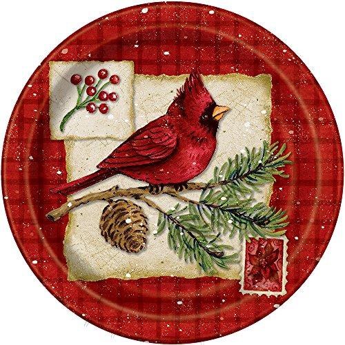 Cardinal Christmas Dinner Plates, 8ct