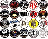 American Hardcore button set of 20 NEW 1 inch pin badge minor threat/bad brain/fix/poison idea 1''