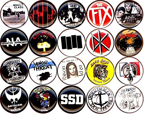 American Hardcore button set of 20 NEW 1 inch pin badge minor threat/bad brain/fix/poison idea 1'' by Panic Buttons (Image #3)