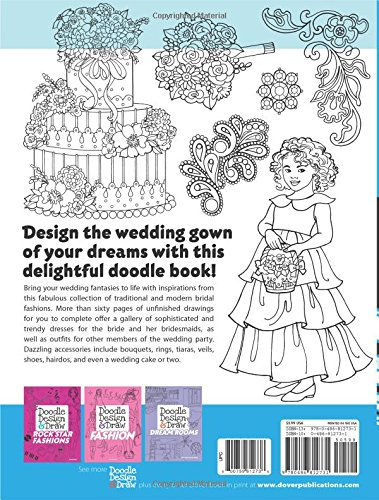 Doodle Design Draw DREAM BRIDAL FASHIONS Dover Books Eileen Rudisill Miller 0800759812738 Amazon