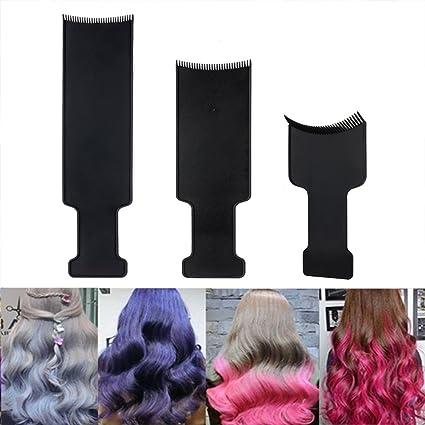 Soporte de Top balayage Junta peine pelo peine de relieve para seccionar Paddle, balayage cepillo pelo color Junta para pelo para colorear Dye ...