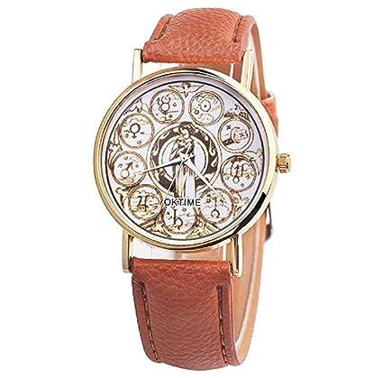 Relojes para mujer, ICHQ Relojes de cuarzo retro, elegantes,