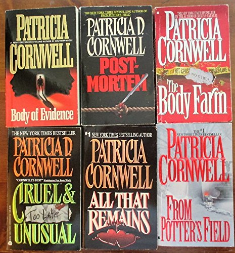 Scarpetta Series Books 1-6, by Patricia Cornwell (Postmortem, Body of Evidence, All That Remains, Cruel & Unusual, The Body Farm, From Potter's Field)