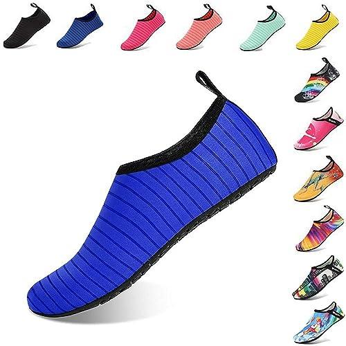 9b33578dec Easondea Zapatos de Agua Mujeres Hombres Niños Ligeros Zapatos de Descalzo  de Secado rápido Zapatos de