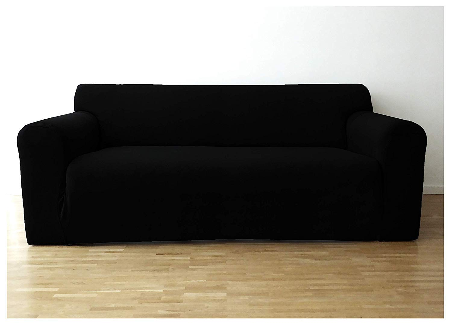 Bellboni - Elastic Couch Covers, Sofa Covers, bi-Elastic Stretch Covers, slipcovers to fit Many Popular Two-Seater Sofas, Black