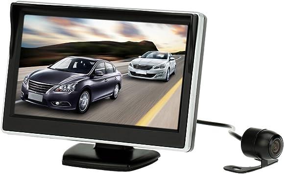 Kkmoon Auto Monitor 5 Zoll 12 7 Cm Tft Lcd Display Auto Rückfahrsystem Hd Parkkamera Auto