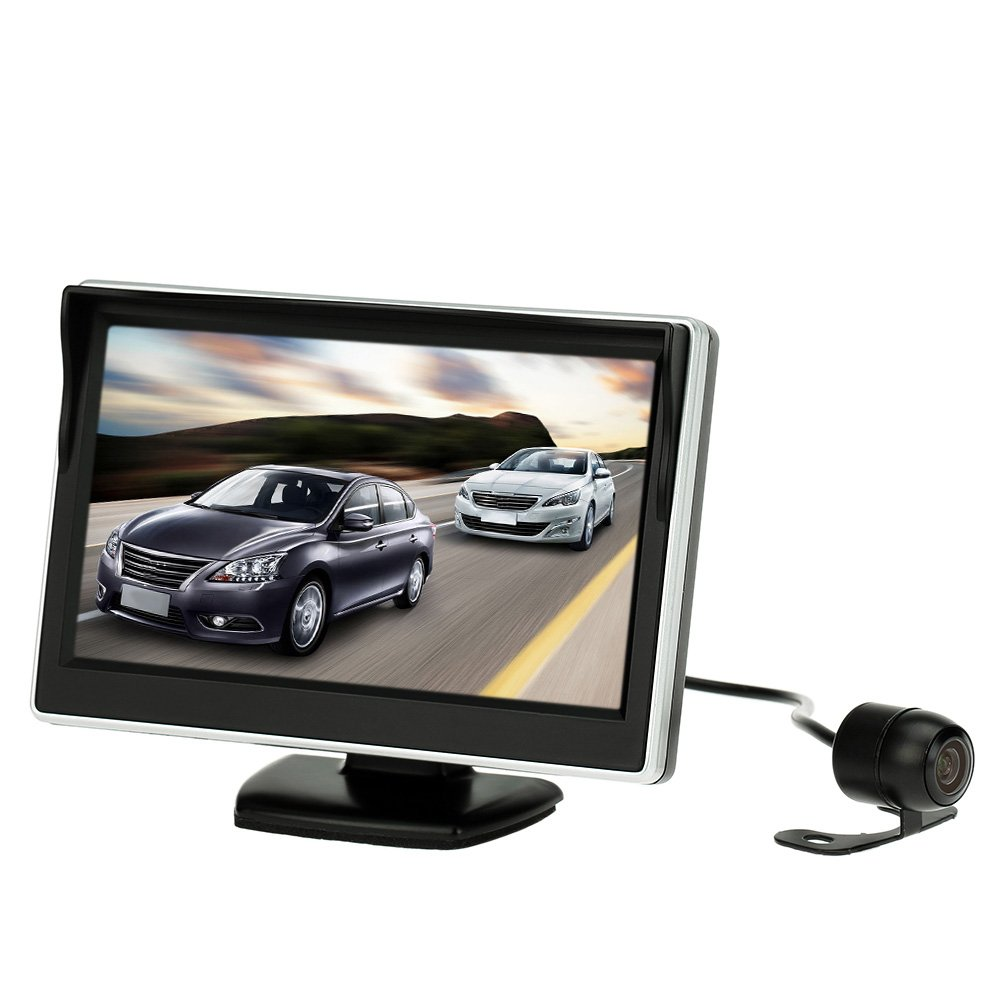 KKmoon 5 inch TFT LCD Display Monitor Car Rear View Backup Reverse System + HD Parking Camera