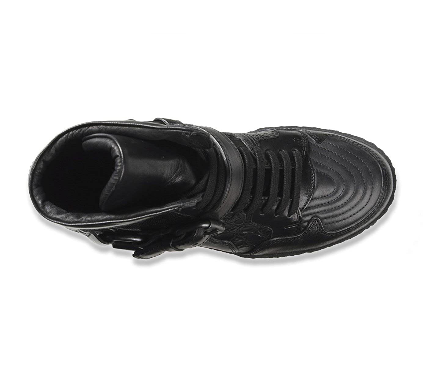 6fd35f3ce23405 DIESEL BLACK GOLD Damen Hi HIgh Top Leder Sneaker Schuhe Stiefel (EU 37   US  7)  Amazon.de  Schuhe   Handtaschen